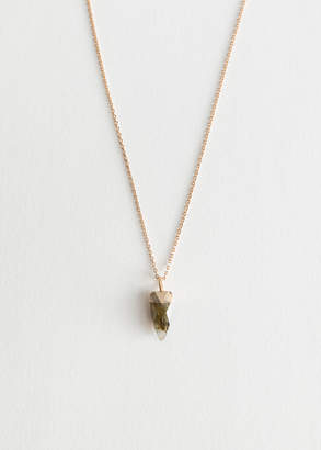 And other stories Crystal Stone Pendant Chain Necklace