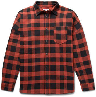 Palm Angels Printed Buffalo-Checked Cotton-Blend Overshirt