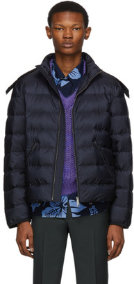 Prada Navy Down Nylon Jacket