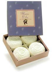 Blanc Lila Jaquet Gift Box (4 Bars) of Soap