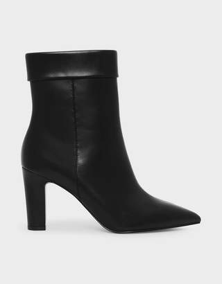 Charles & Keith Cuff Detail Pointed Boots