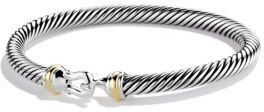 David Yurman Cable Buckle Bracelet with Gold $495 thestylecure.com