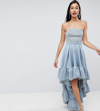 Red Carpet Asos Edition Asos Tall Scuba Dip Back Midi Dress