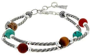 American West Multi Gemstone Bead & SterlingSilver Bracelet