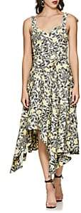 Proenza Schouler Women's Floral Crepe Belted Midi-Dress - White