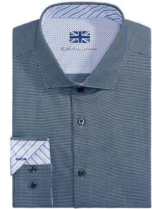 Michelsons of London Men Slim-Fit Pattern Dress Shirt