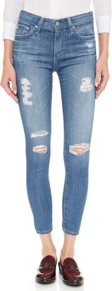 AG Farrah High Rise Crop Skinny Jeans $225 thestylecure.com