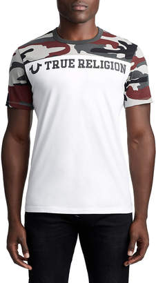 True Religion MEN'S CAMO TEAM LOGO TEE