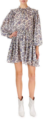Isabel Marant Navy Multi Siggt Printed Dress