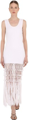 Sonia Rykiel Long Cotton Macrame Knit Dress