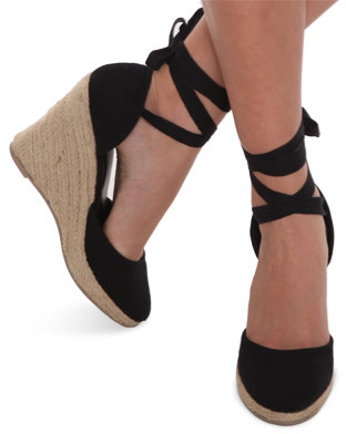 Forever 21 Wrap Around Espadrille Wedges