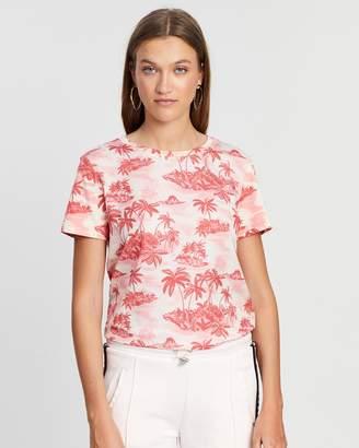 Maison Scotch Island Print T Shirt