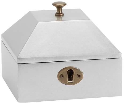 Juliet Jewelry Box, Small, Sliver Leaf