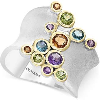 Effy Multi-Gemstone Bezel Ring (1 ct. t.w.) in Sterling Silver & 14k Gold