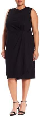 Bobeau Capri Wrap Skirt Dress (Plus Size)
