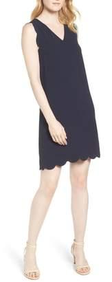 CeCe Scallop Edge Shift Dress