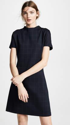 Theory Dolman Shift Windowpane Dress