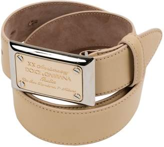 Dolce & Gabbana Ecru Leather Belts