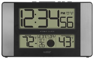 La Crosse Technology 513-1417AL Atomic Clock with Temperature and Moon Phase
