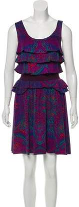Marc by Marc Jacobs Printed Ruffled Dress