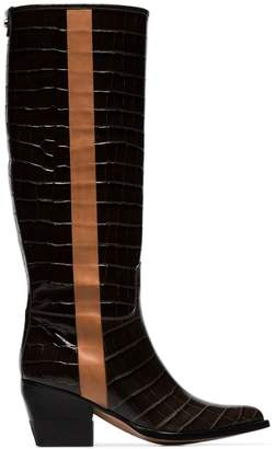 Chloé coffee brown 60 knee high leather boots