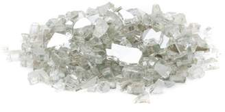 "Generic 1/2"" 20 lb. Medium Crystal Reflective Fire Glass"