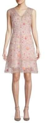 Elie Tahari Jayla Embroidered Silk Organza Dress