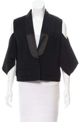 Givenchy Cold-Shoulder Shawl Collar Blazer w/ Tags