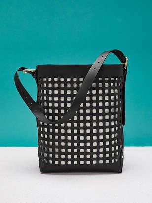 Diane von Furstenberg Perforated Origami Bucket Bag da2054d751