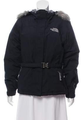 The North Face Fur-Trimmed Short Coat