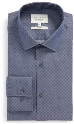 Ted Baker Wests Slim Fit Check Dress Shirt