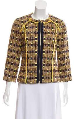 Tory Burch Woven Collarless Jacket w/ Tags