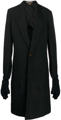 Comme des Garcons one-button long coat