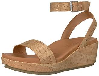 Gentle Souls by Kenneth Cole Women's Morrie Platform Wedge Sandal with Ankle Strap Sandal