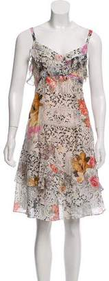 John Galliano Printed Sleeveless Dress