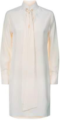 Chloé Scarf Detail Silk Dress