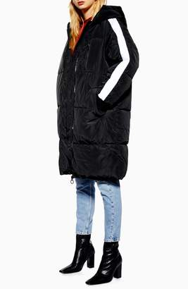 Topshop Long Puffer Coat