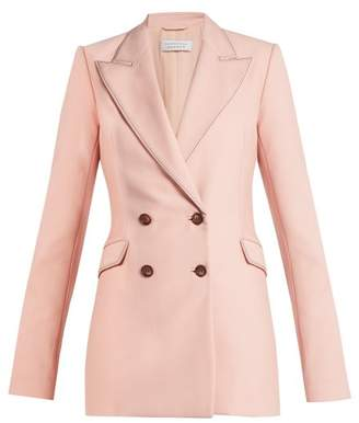 Gabriela Hearst Angela Wool Double Breasted Blazer - Womens - Pink