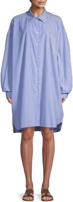 Maison Margiela Oversized Striped Shirt Dress