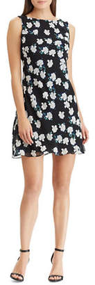 Chaps Sleeveless Floral A-Line Dress