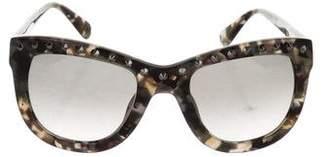 Diane von Furstenberg Embellished Oversize Sunglasses