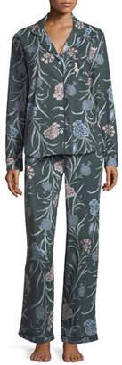 Desmond & Dempsey British Floral-Print Long Pajama Set