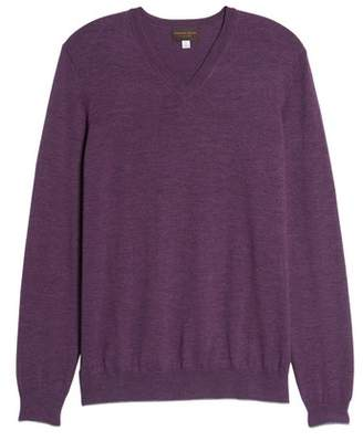 Thomas Dean Merino Wool Blend V-Neck Sweater
