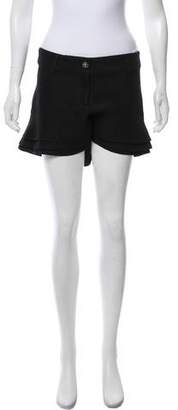 Chanel Ruffled Mid-Rise Shorts