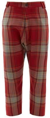 Vivienne Westwood Contrast Tartan Wool Twill Trousers - Womens - Red Multi