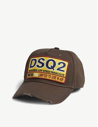 DSQUARED2 Patch cotton strapback cap