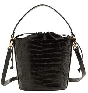 MANGO Croc-effect bucket bag