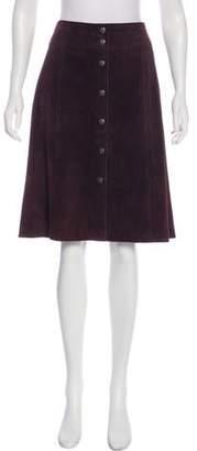 Theory Suede Knee-Length Skirt