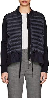 Moncler Women's Ruffled-Hem Down-Quilted Sweater