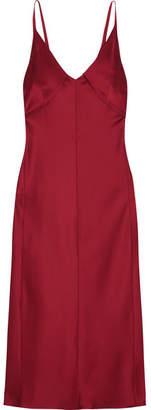Helmut Lang Satin Dress - Red